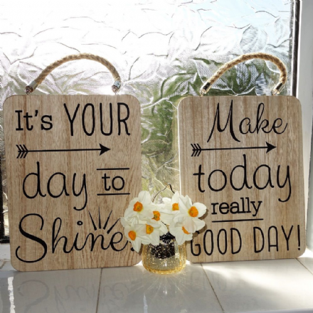 30% OFF Gorgeous slogan natural wood signs